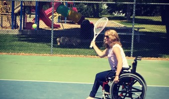 Trying Out Wheelchair Tennis