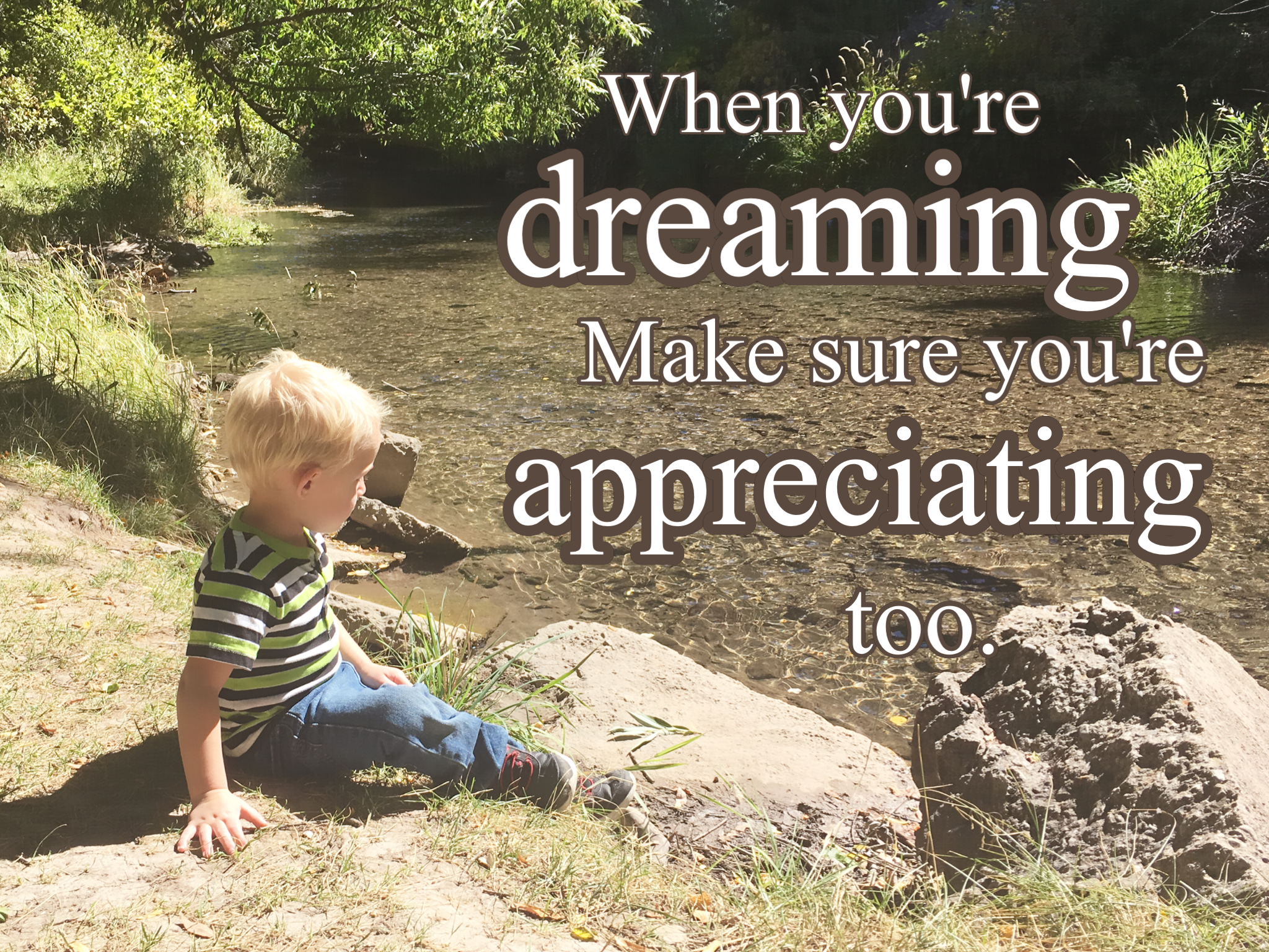 On Dreaming And On Appreciating